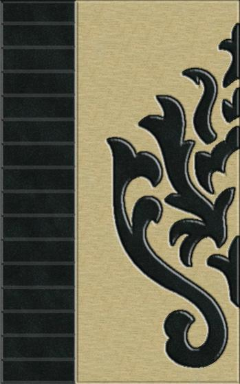 Rugstudio Riley DL10 Black-Putty Area Rug| Size| Returnable Sample Swatch - 37396x28