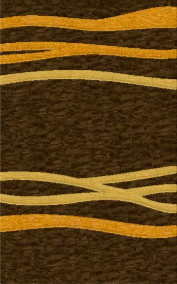 Rugstudio Riley DL15 Mocha-Cornmaze-Golddust Area Rug - 37503