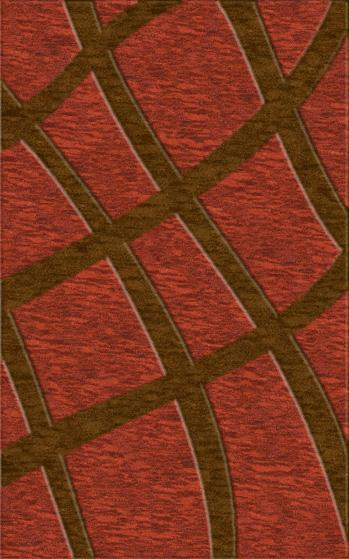 Rugstudio Riley DL24 Rich Red-Caramel Area Rug - 37569