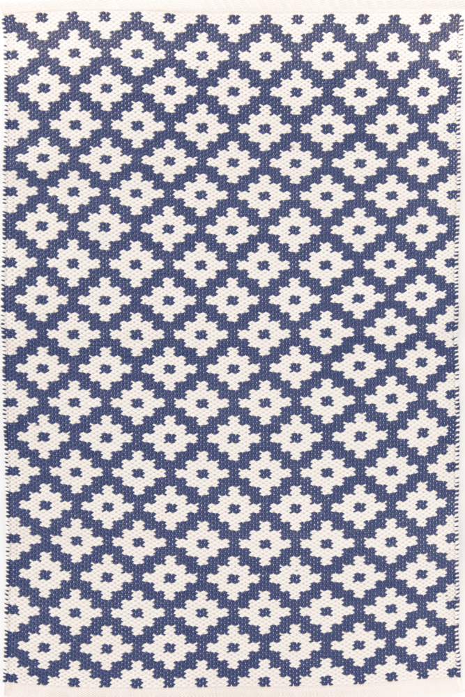 Dash And Albert Samode 92383 Denim-Ivory Area Rug| Size| Returnable Sample Swatch - 92383x2