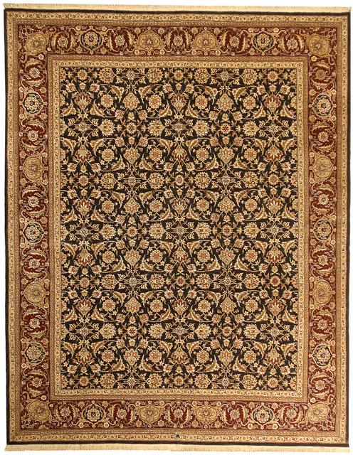 Due Process Qingdoa Herati Navy-Red Area Rug Last Chance| Size| 2' 6'' X 10' Runner - 31726x12