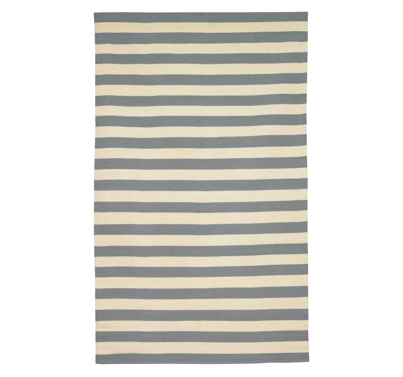 DwellStudio Draper Stripe 66495 Chinois Bl Area Rug Last Chance| Size| 5 x 8 - 66495x2