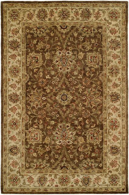 Kalaty Empire EM-284 Brown-Ivory Area Rug| Size| 2' 6'' X 10' Runner - 23967x8