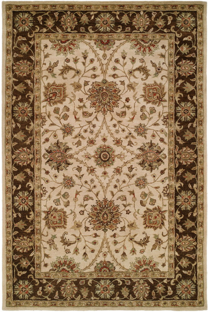 Kalaty Empire EM-292 Ivory-Brown Area Rug| Size| 2'6'' x 10' Runner - 64098x2