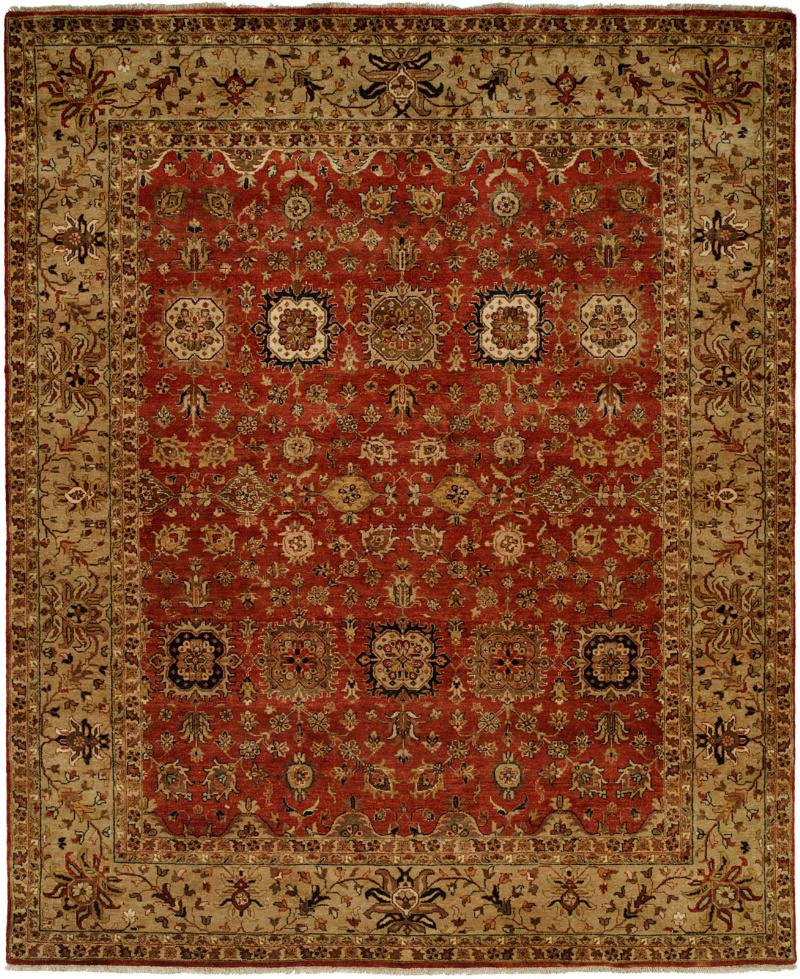 Famous Maker Tahone 100375 Red Area Rug| Size| 6' x 9' - 64286x9