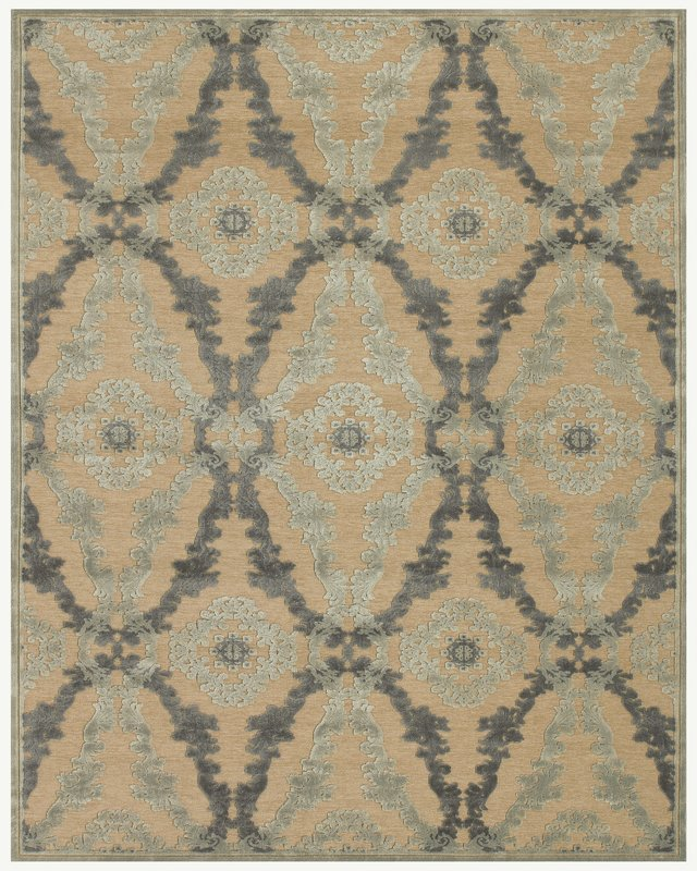 Famous Maker Stephan 44656 Ivory-Silver Area Rug Last Chance