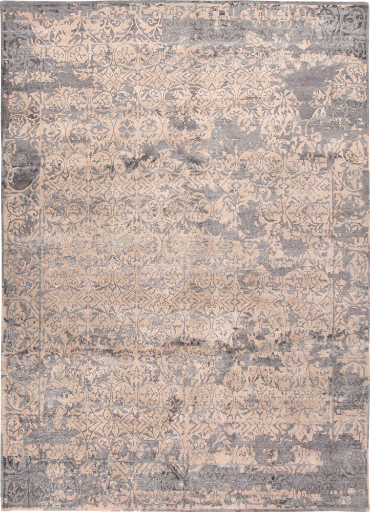 Jaipur Living Connextion By Jenny Jones - Global Chambord CG05 Beige and Medium Blue Area Rug| Size| 18'' Returnable Sample Swatch - 69954x6