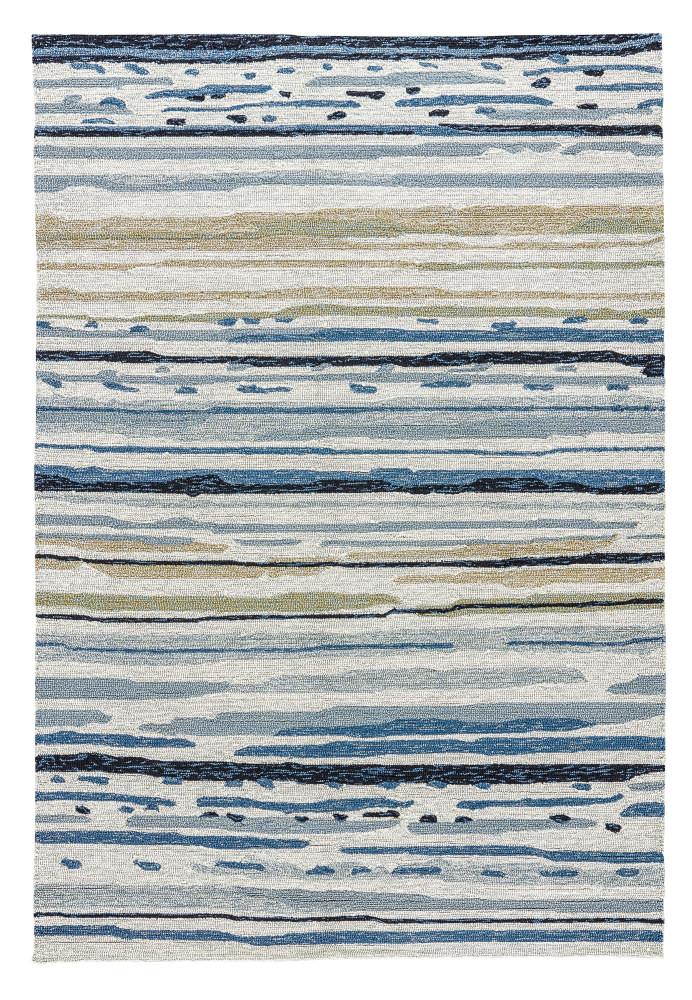 Jaipur Living Colours Sketchy Lines Co08 Silver Green - Ensign Blue Area Rug| Size| 2' x 3' - 74853x1