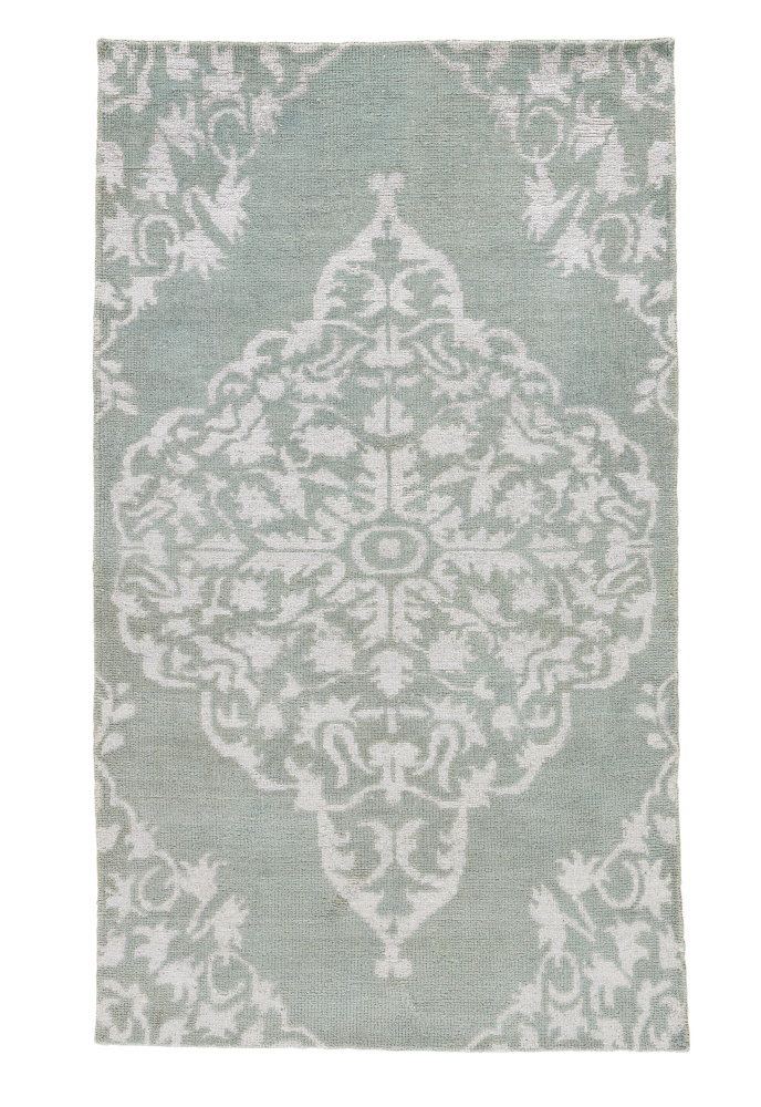 Jaipur Living Heritage Chantilly Hr01 Aqua Sky Area Rug| Size| 18'' Returnable Sample Swatch - 75118x5