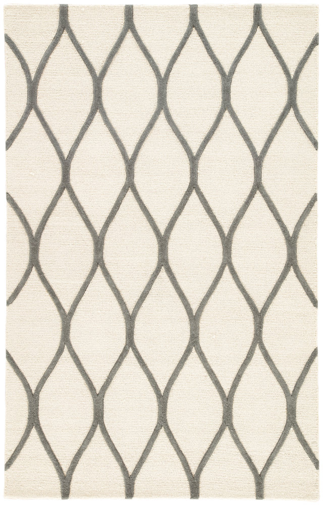 Jaipur Living Lounge Marquia Loe02 Snow White - Frost Gray Area Rug| Size| Returnable Sample Swatch - 102978x5