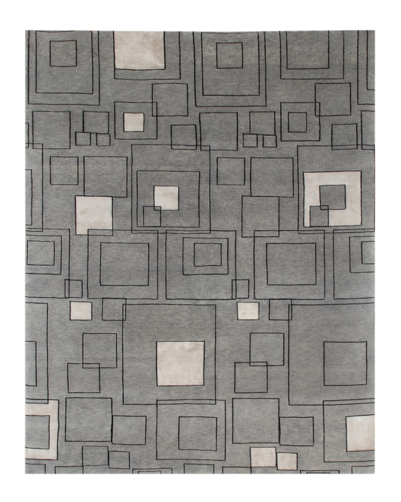 Jaipur Living J2 Jali J230 Medium Gray-Ebony Area Rug Last Chance| Size| Returnable Sample Swatch - 53400x5