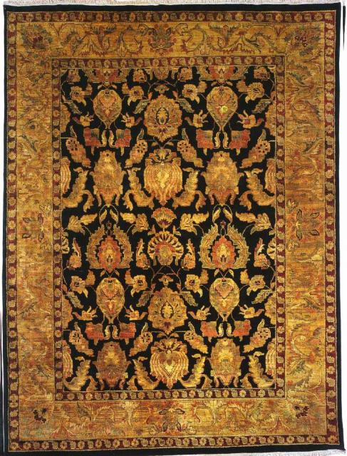 Kalaty Jaipura Jp-420 Black-Gold Area Rug Clearance