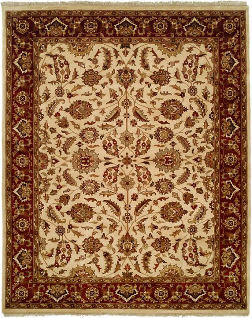 Kalaty Lateef Lt-808 Ivory-Antique Rust Area Rug Clearance - 13599