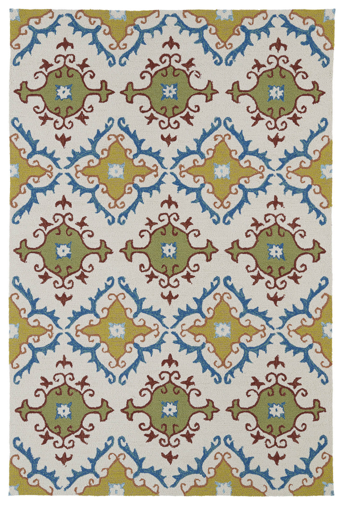 Kaleen Home And Porch 2030-01 Ivory Area Rug| Size| 2' x 3' - 100184x1