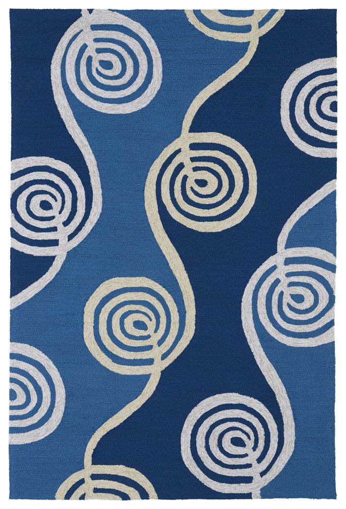 Kaleen Home And Porch 2031-17 Blue Area Rug| Size| 2' x 6' Runner - 100185x2