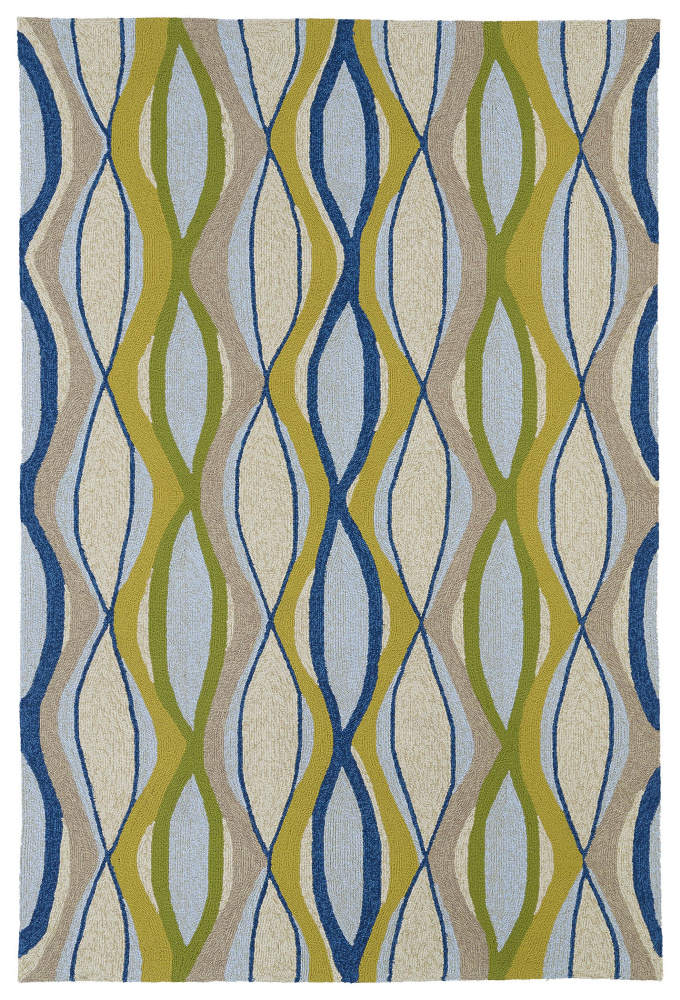 Kaleen Home And Porch 2034-17 Blue Area Rug| Size| 2' x 3' - 100189x1