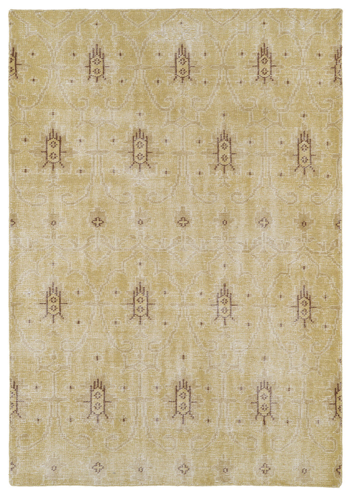 Kaleen Restoration Res01-05 Gold Area Rug| Size| 2' x 3' - 105841x1