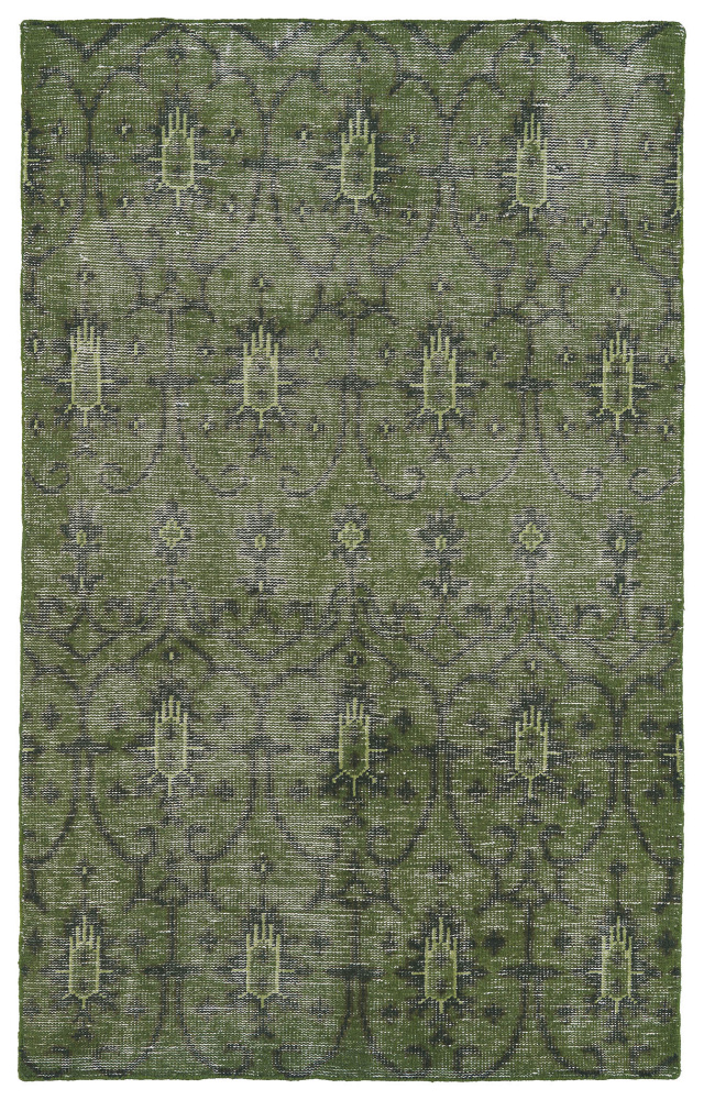 Kaleen Restoration Res01-50 Green Area Rug| Size| 2' x 3' - 105845x1