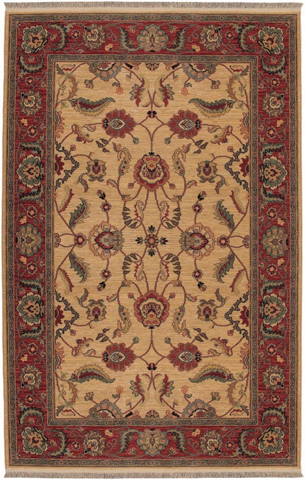 Karastan Ashara Agra Ivory 549-15005 Area Rug| Size| 2' 6'' X 8' Runner with Free Pad - 21076x2
