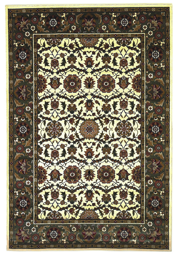 Kas Cambridge Floral Agra Ivory-Green7307 Area Rug| Size| 2'3'' X 3'3'' - 11935x1