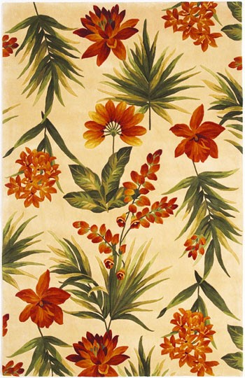 Kas Catalina Tropical Flora 780 Ivory Area Rug| Size| 30'' X 50'' - 17619x1