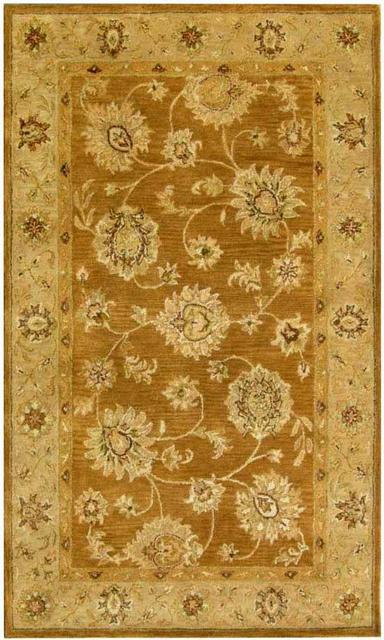 KAS Kasmir All over Kashan Coffee-Beige 4807 Area Rug Clearance