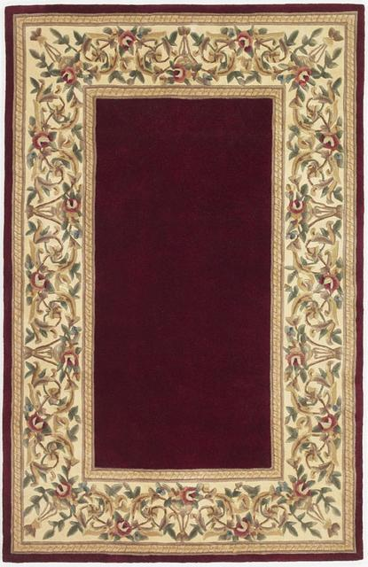 Kas Ruby Floral Border Ruby 8979 Area Rug| Size| 30'' X 50'' - 30916x1
