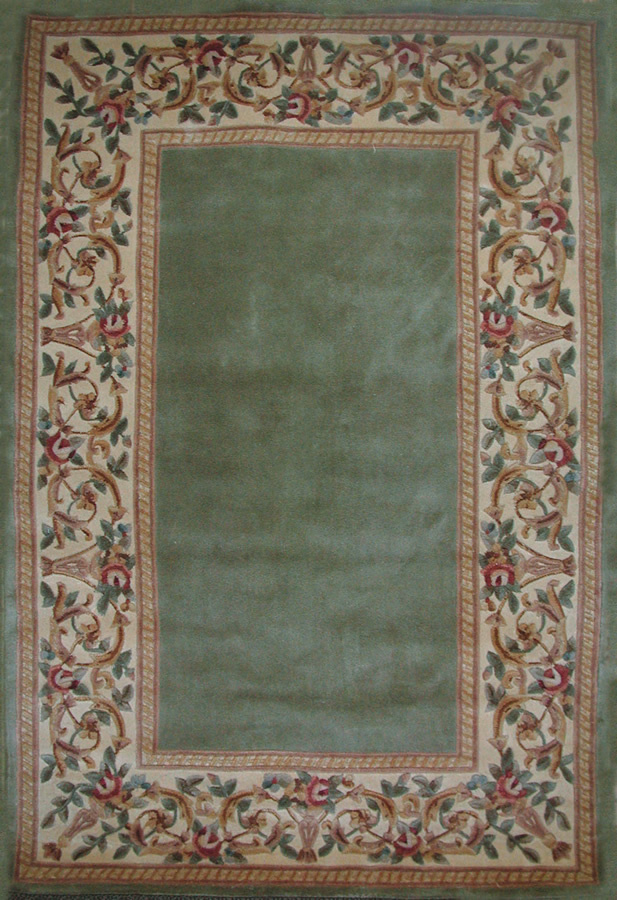 Kas Ruby Floral Border Sage 8942 Area Rug| Size| 30'' X 50'' - 11894x1
