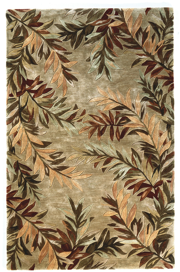 Kas Sparta Tropical Branches Sage 3144 Area Rug| Size| 3'6'' X 5'6'' - 11921x1