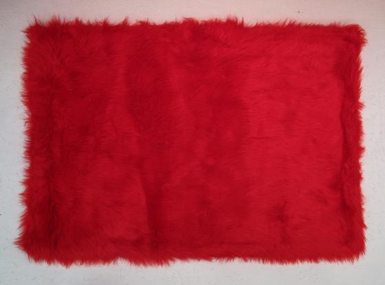 Fun Rugs Flokati RED FLK-002 Red Area Rug