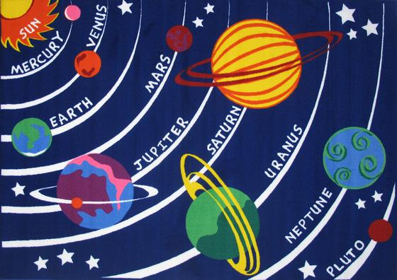 Fun Rugs Fun Time Solar System FT-170 Multi Area Rug