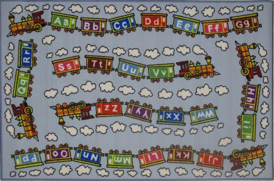Fun Rugs Fun Time Edu Train FT-96 Multi Area Rug - 42673