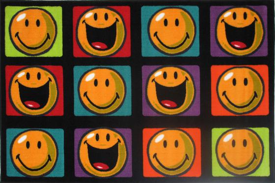 Fun Rugs Smiley World Happy and Smiling SW-13 Multi Area Rug