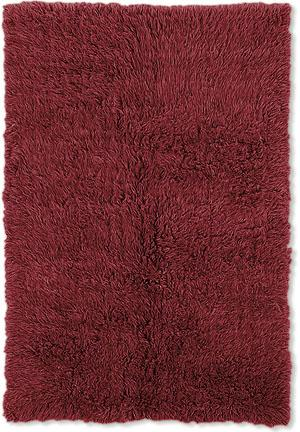 Linon Flokati 3A 2000 Grams Red Area Rug