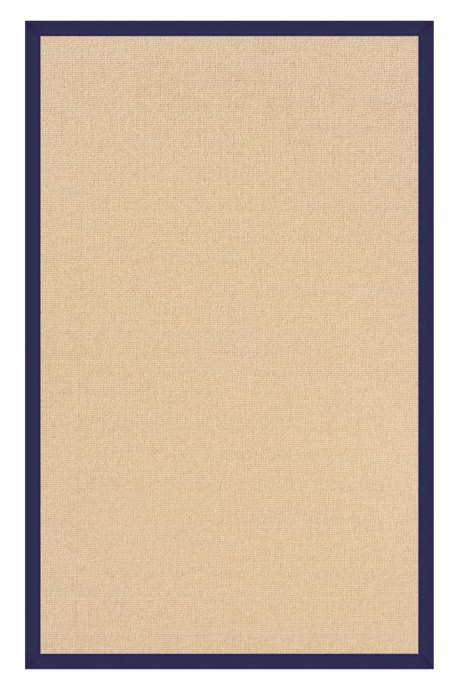Linon Athena At0104 Natural - Blue Area Rug| Size| 1' 10 x 2' 10 - 71131x1