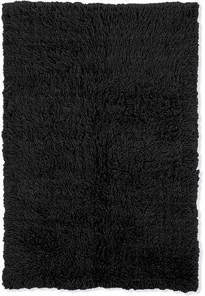Linon New Flokati 1400 Grams Black Area Rug| Size| Returnable Sample Swatch - 44220x7