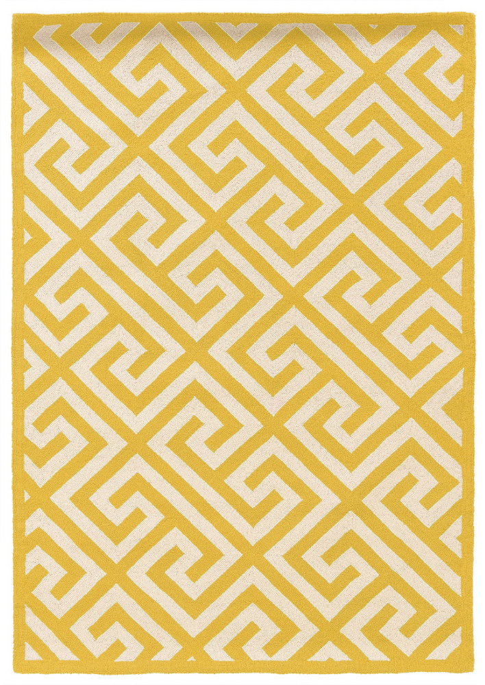 Linon Silhouette Sh08 Yellow Area Rug| Size| 1'10'' x 2'10'' - 101513x1