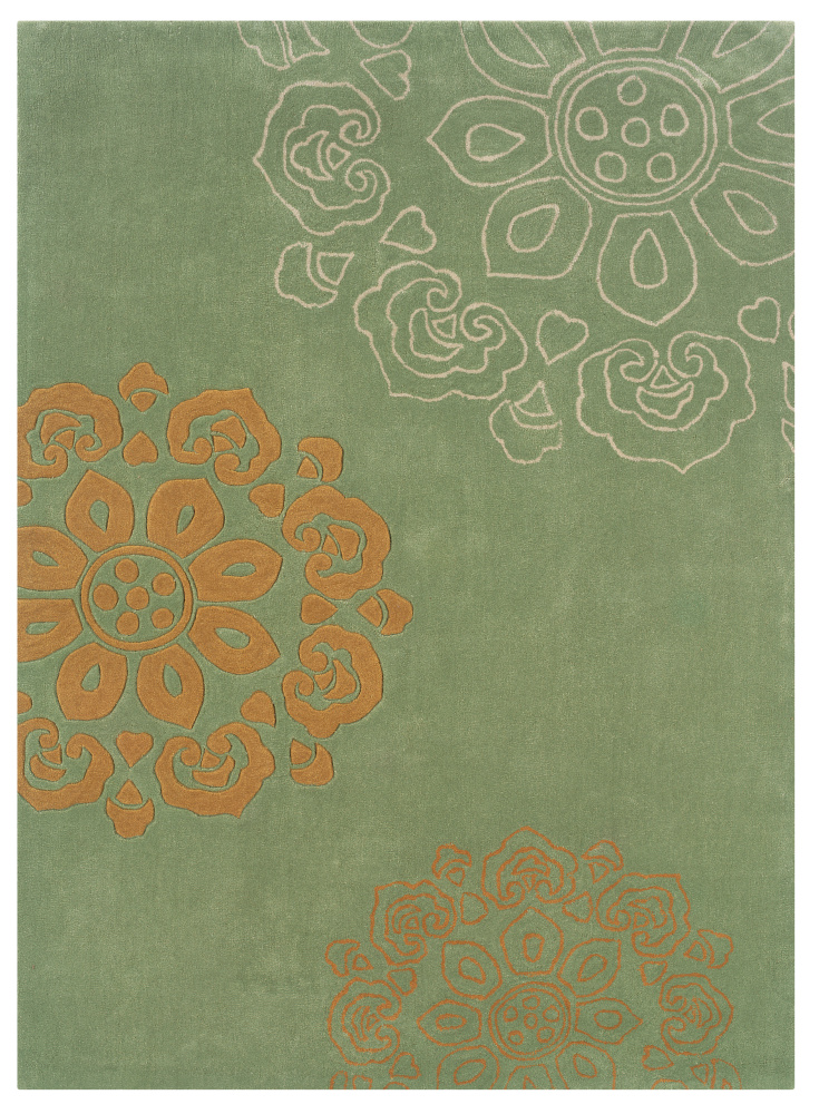 Linon Trio Tab32 Pale Green - Gold Area Rug| Size| 1' 10 x 2' 10 - 71463x2