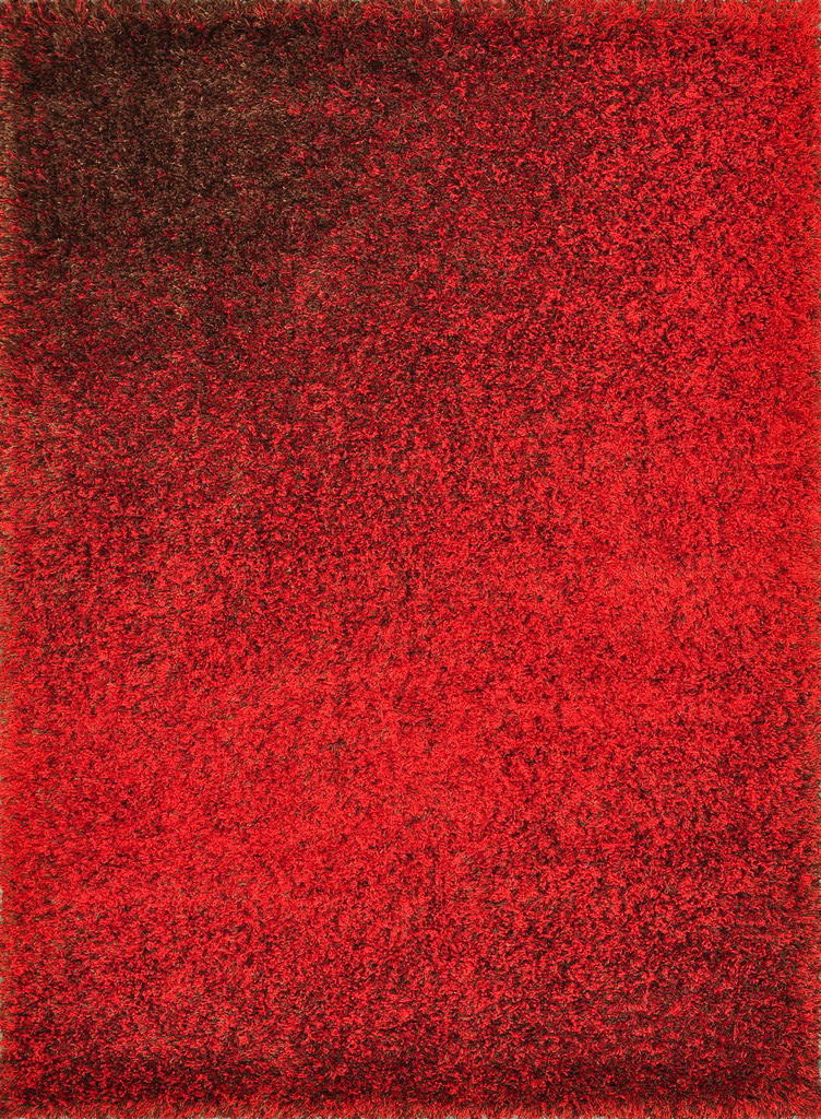 Loloi Barcelona Shag BS-01 Red - Brown Area Rug| Size| 18'' Returnable Sample Swatch - 53888x5