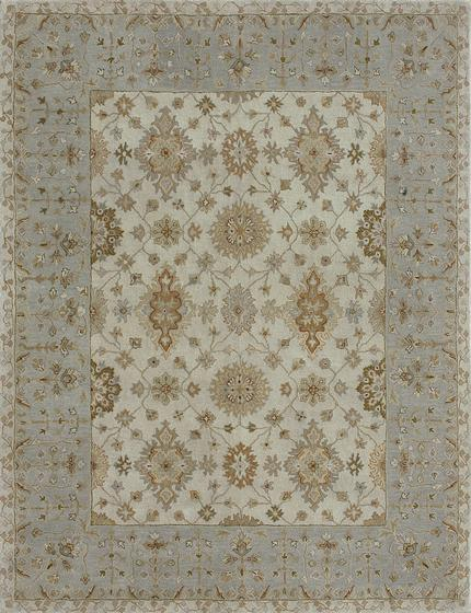 Loloi Elmwood EW-05 Ivory-Blue Area Rug| Size| 18'' Returnable Sample Swatch - 37764x8
