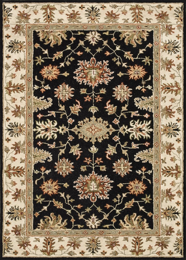Loloi Fairfield Fairhff09 Black - Ivory Area Rug Clearance| Size| 5' x 7'6'' - 81089x1