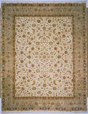 Lotfy and Sons Blossom 13 Ivory-Light Green Area Rug