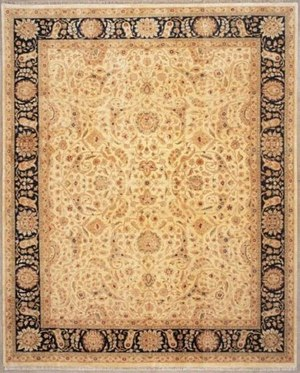 Lotfy and Sons Nuance 872 Light Gold-Black Area Rug