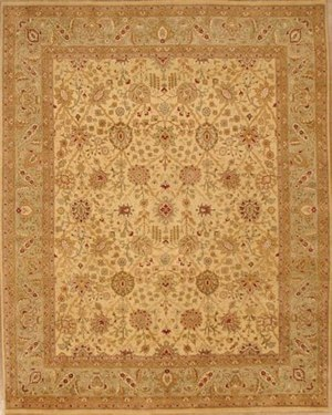 Lotfy and Sons Nuance 871 Light Gold-Light Green Area Rug