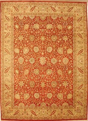 Lotfy and Sons Nuance 871 Rust-Light Gold Area Rug
