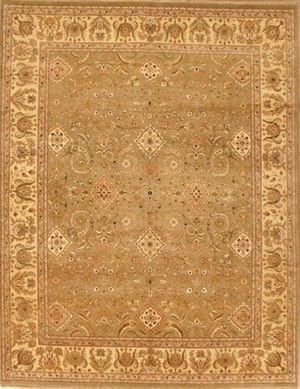 Lotfy and Sons Nuance Amritsar Sea Green-Light Gold Area Rug - 136788