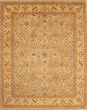 Lotfy and Sons Nuance 871 Light Green-Light Gold Area Rug