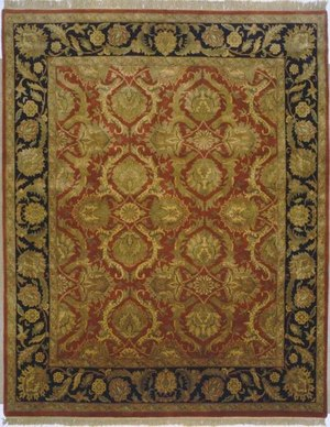 Lotfy and Sons Majestic Hs-17 Red-Black Area Rug
