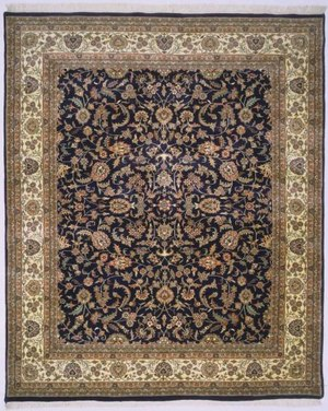 Lotfy and Sons Narmada 320 Black-Ivory Area Rug