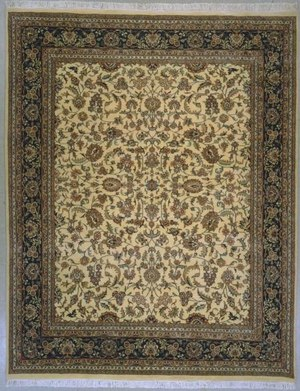 Lotfy and Sons Narmada 320 Ivory-Dark Blue Area Rug